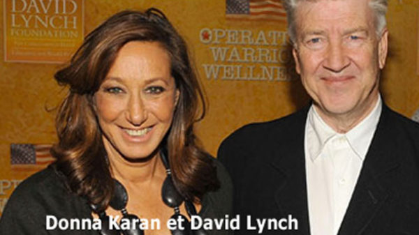 Photo Donna Karan et David Lynch pour Méditation Transcendantale