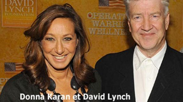 Photo Donna Karan et David Lynch pour Méditation Transcendantale