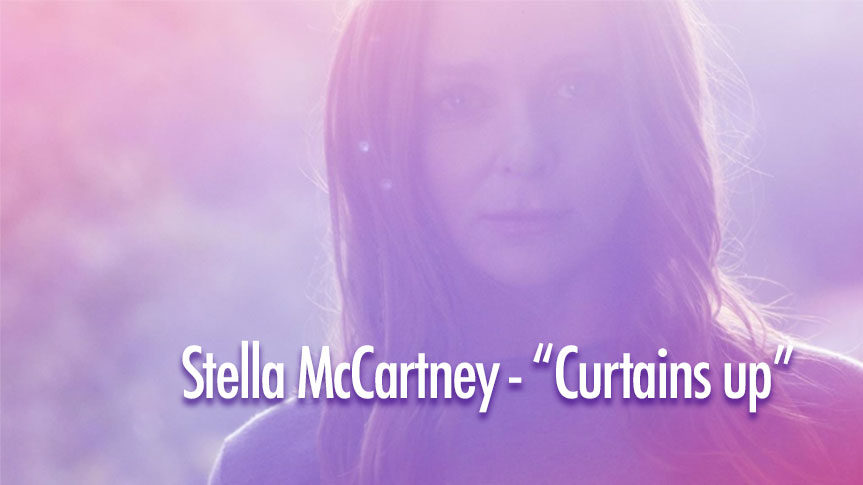Photo de Stella McCartney pour Curtains up et Méditation Transcendantale