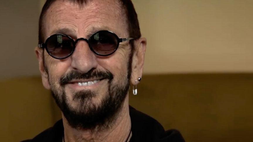 Photo de Ringo Starr pour intervieww Méditation Transcendantale, Peace and Love