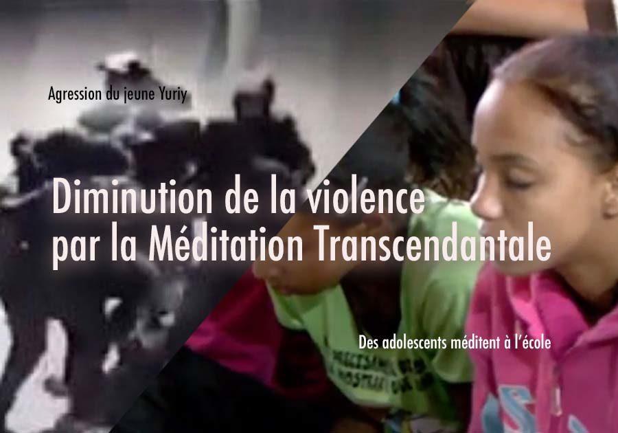 Diminution de la violence chez les adolescents par la Méditation Transcendantale