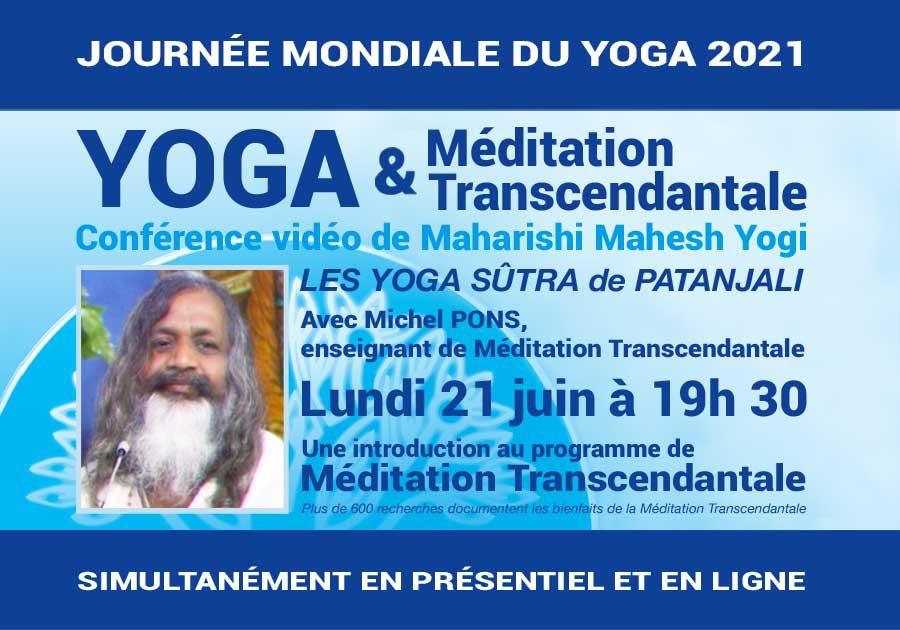 Méditation Transcendantale et journée du Yoga - Annonce conférence